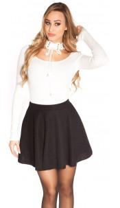 Sexy flared skirt Black