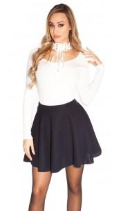 Sexy flared skirt Navy