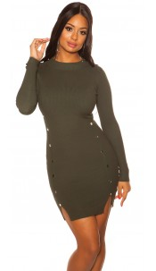 Sexy Longsleeve Knit dress Green