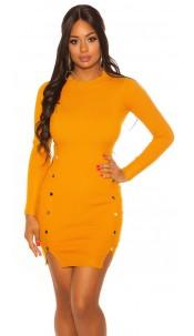 Sexy Longsleeve Knit dress Mustard