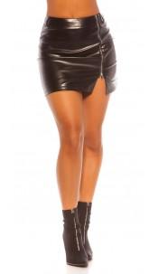 Sexy Koucla Leatherlook Miniskirt Black