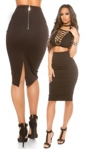 Sexy KouCla pencil skirt Black