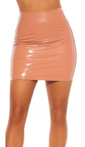 Sexy Koucla Latexlook mini skirt Pink