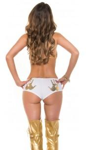 Sexy KouCla panties with handprint White