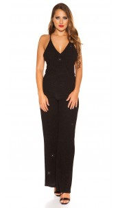 Sexy LeT s PaRTY Glitter Jumpsuit Black