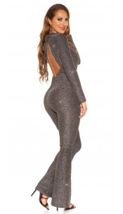 Sexy Glitzer It S PaRTy TiMe jumpsuit Silver