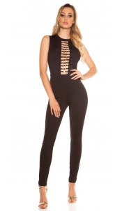 Sexy KouCla Jumpsuit With Sexy Decollete Black