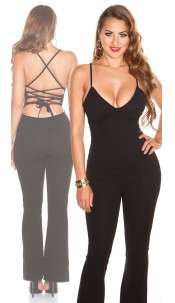 Sexy jumpsuit with lacing Black