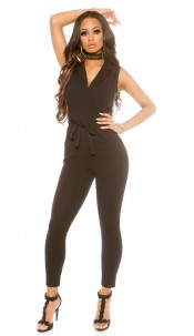 Sexy jumpsuit in business look Black