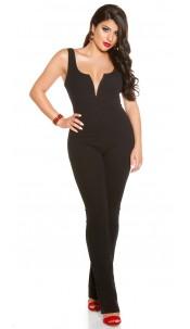 Sexy KouCla V-Cut jumpsuit Black