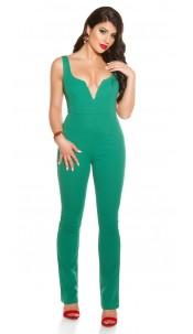 Sexy KouCla V-Cut jumpsuit Green