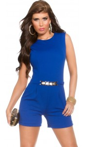Sexy KouCla playsuit with gold buckle Royalblue
