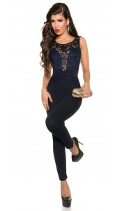 Sexy Koucla overall with lace Navy
