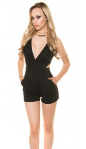 Sexy KouCla Playsuit with sexy cut Black