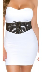 Sexy waist belt with lacing Black