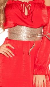 Sexy waist belt with sequins Rose
