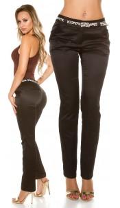 Sexy Skinny-pants with Leo-belt Black