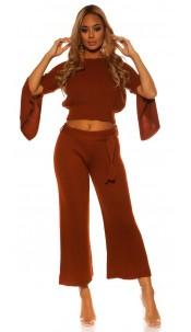 Sexy KouCla Set short jumper /pants WITH belt Bronze