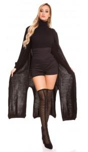 Trendy Koucla knitting coat Black