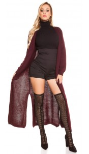 Trendy Koucla knitting coat Bordeaux