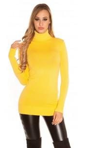 Sexy turtleneck longsweater Mustard