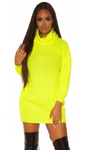Sexy oversize knit dress Neonyellow