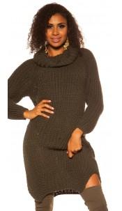 Sexy XL turtleneck knit XL Pullover Khaki
