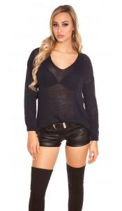 Trendy Koucla oversize chunky knit jumper Navy