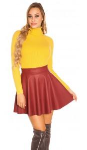 Trendy Basic Ripp Turtleneck jumper Mustard