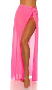 Sexy KouCla Beach Tulle Warparound Skirt Neonfuchsia