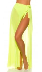 Sexy KouCla Beach Tulle Warparound Skirt Neonyellow