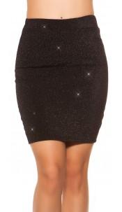 Sexy Party-Glitter Mini skirt Black