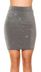 Sexy Party-Glitter Mini skirt Silver