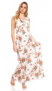Sexy long summer dress Coachella-Style White