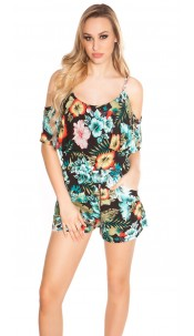 Sexy summer playsuit Coachella-Style Black