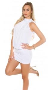Sexy KouCla Party mini dress White
