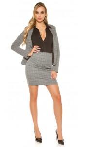 Sexy KouCla Business Mini Skirt Grey
