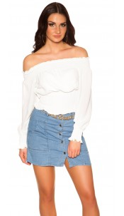 Sexy Off Shoulder Shirt White