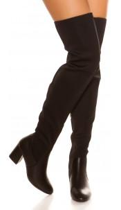 Sexy overknees boots Black
