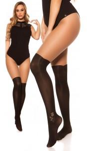 Sexy tights in overknee look Cappuccino