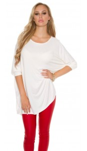 Trendy HighLow Oversize Longshirt Cream