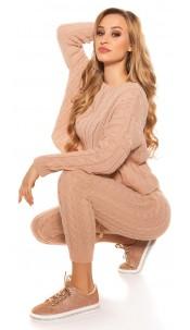 Trendy Roughknit home suit (SET Jumper & Pants!) Antiquepink