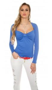 Sexy Koucla Bolero-longsleeve shirt with lace Blue