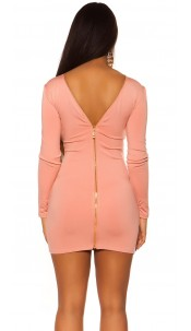 Sexy KouCla Sheath Dress with back zipper Antiquepink
