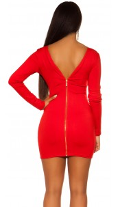 Sexy KouCla Sheath Dress with back zipper Red