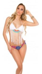 Sexy crochet bikini with brazilian style panties White