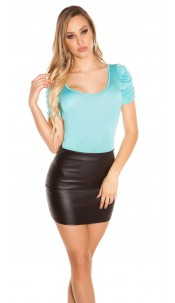 Sexy Koucla Top with puffy sleeves Mint