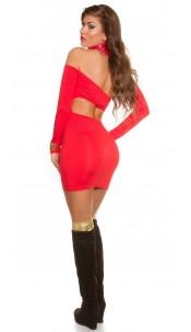 Sexy KouCla mini dress with Sexy back Red
