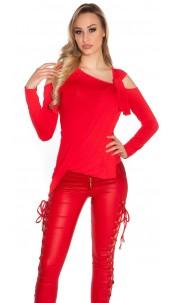 Sexy Koucla shirt with warp optic Red