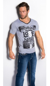 """Trendy T-Shirt """"Nothing to Lose"""" Grey"""